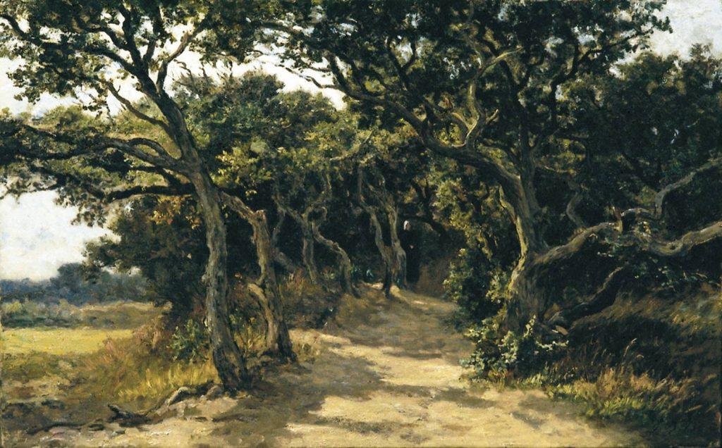Euphrosine Beernaert, In de duinen te Domburg / Duinenbosjes in Domburg-Walcheren, 1873, olieverf op doek, Mu.ZEE, collectie van de Provincie West-Vlaanderen en de Stad Oostende.