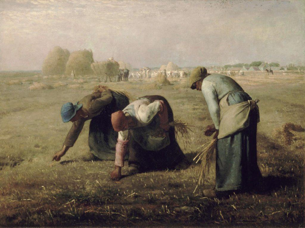 Jean-François Millet, De sprokkelaars, 1857, olieverf op doek, Musée d'Orsay, Parijs.