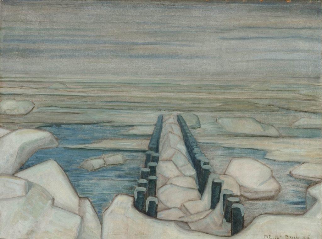 Mies Elout-Drabbe, Bevroren Zee / Frozen Sea, 1916, oil on canvas, ICEAC CFVV.