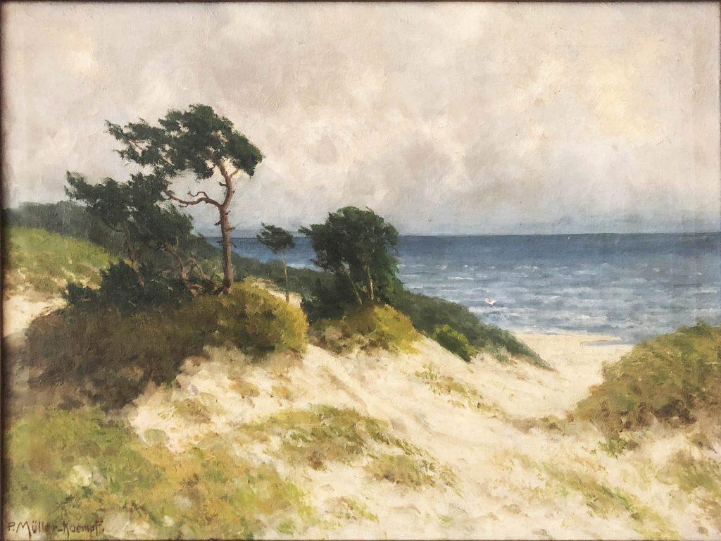 Paul Müller-Kaempff, Ostsee Landschaft / Oostzee landschap, z.j., olieverf op doek, ICEAC CFVV.