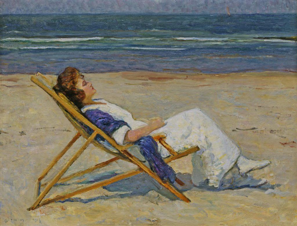 Maurice Góth, Strandbeeld, 1915, olieverf op doek, particuliere collectie.